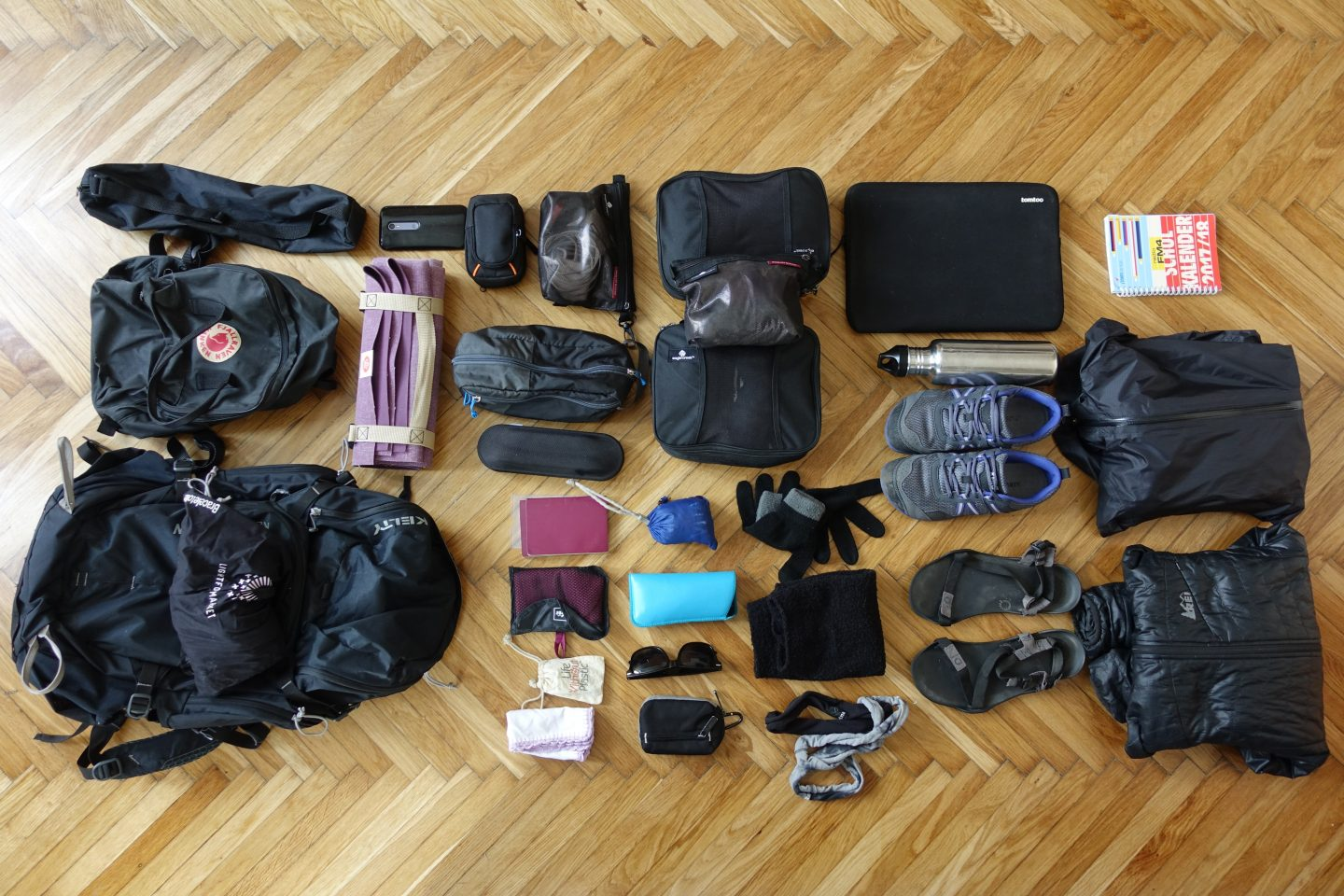 what i packed for one year of travel