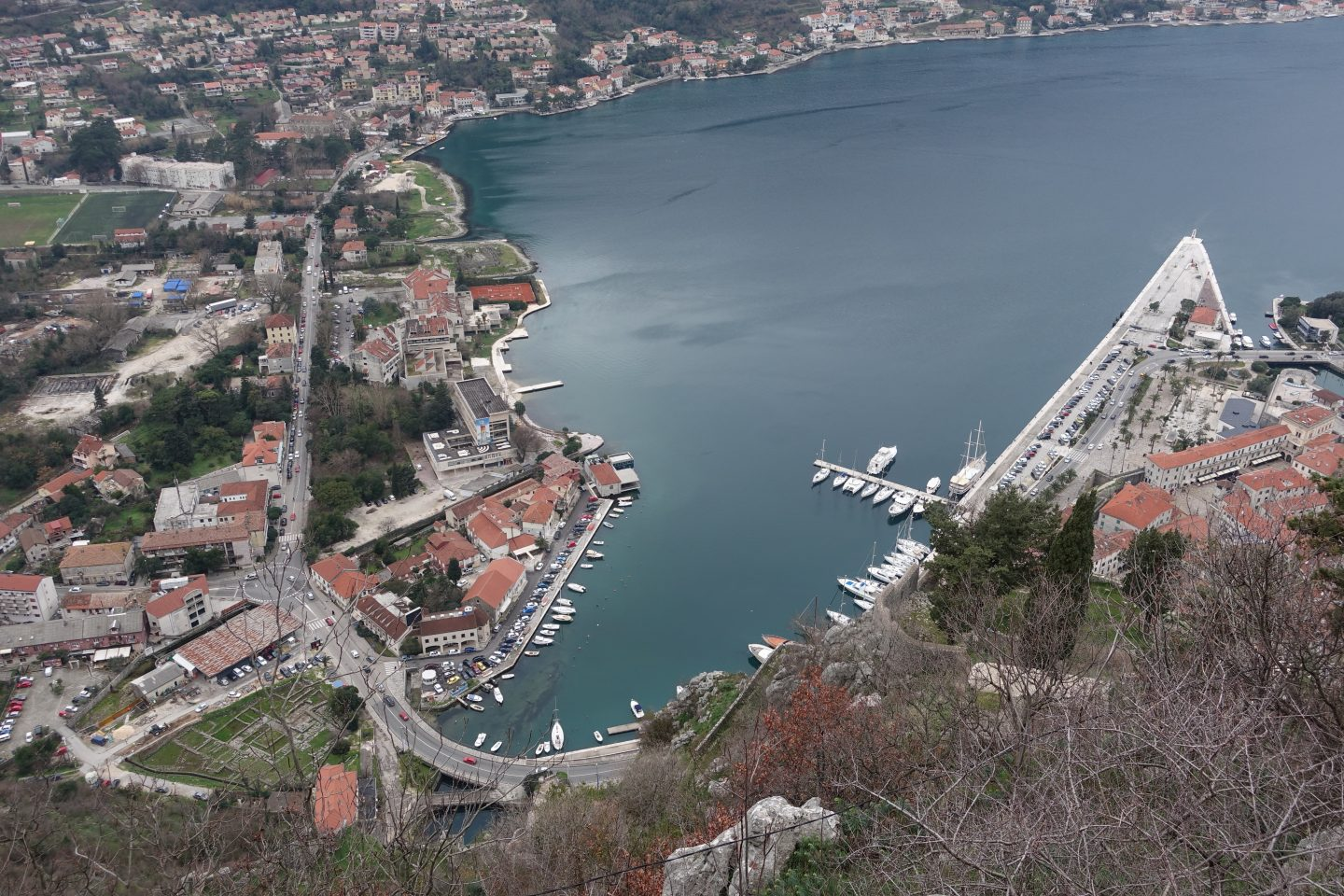 Kotor during the winter