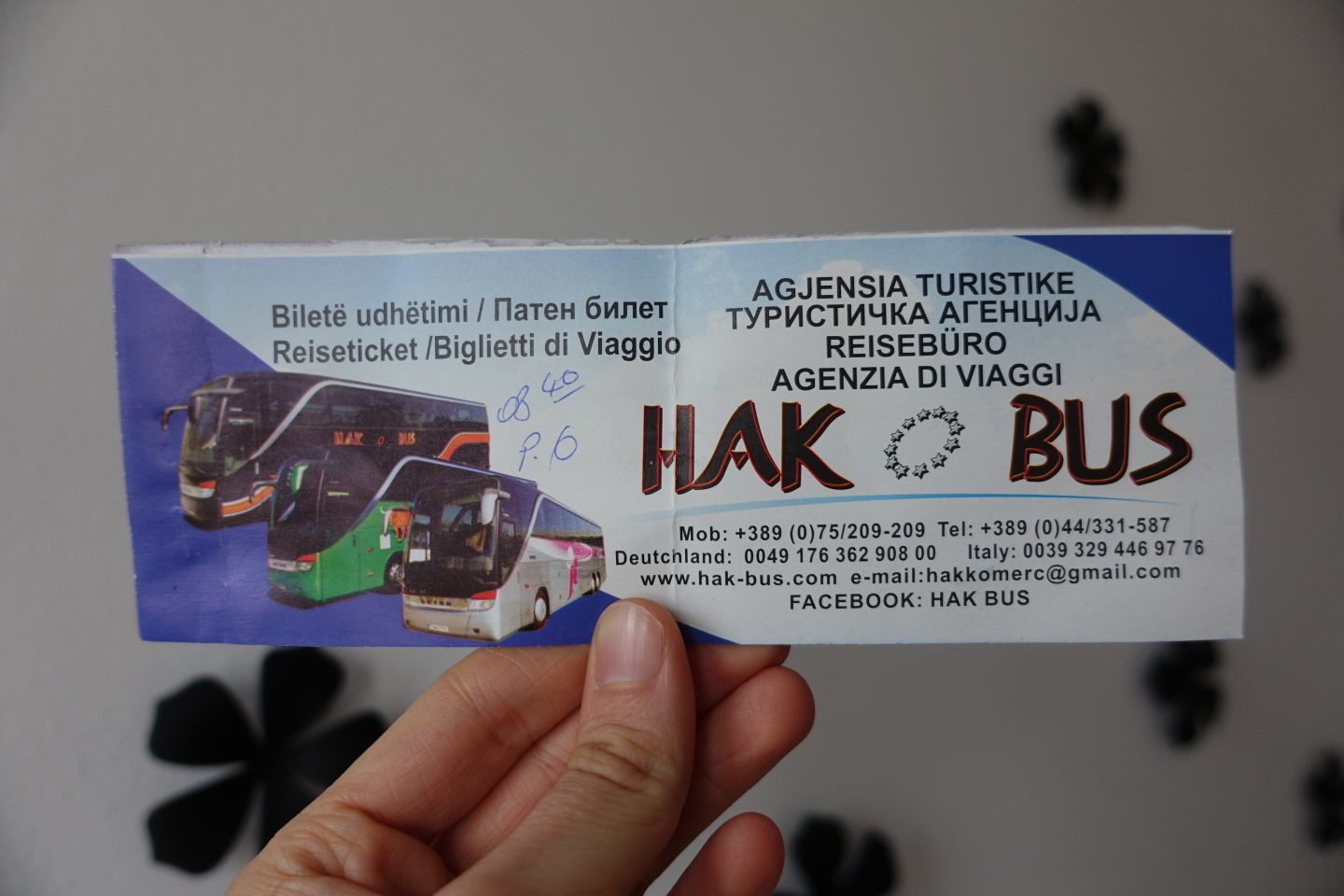 hak bus ticket to ohrid