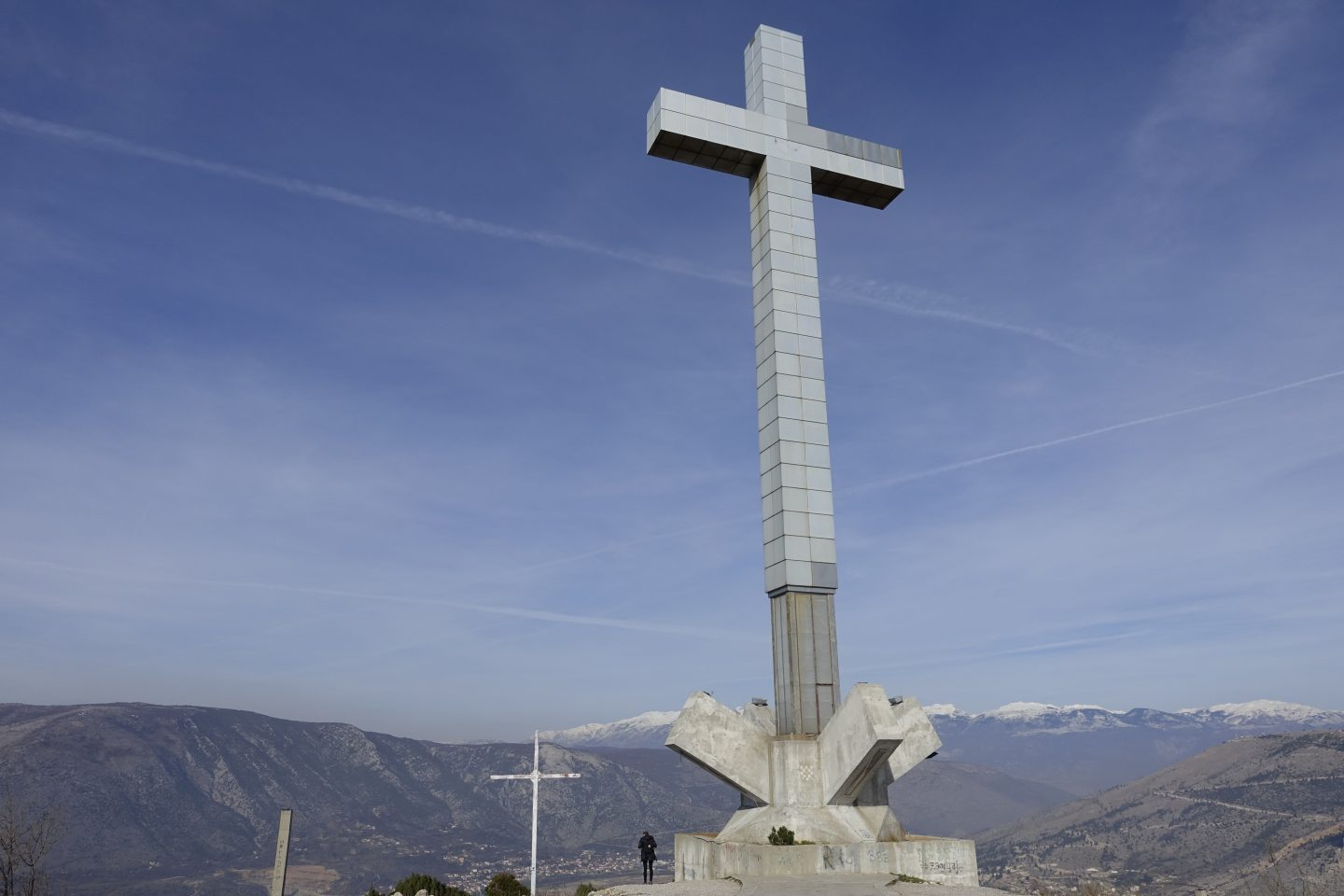 """Hiking to the """"Millenium cross"""" on hum hill in Mostar"""