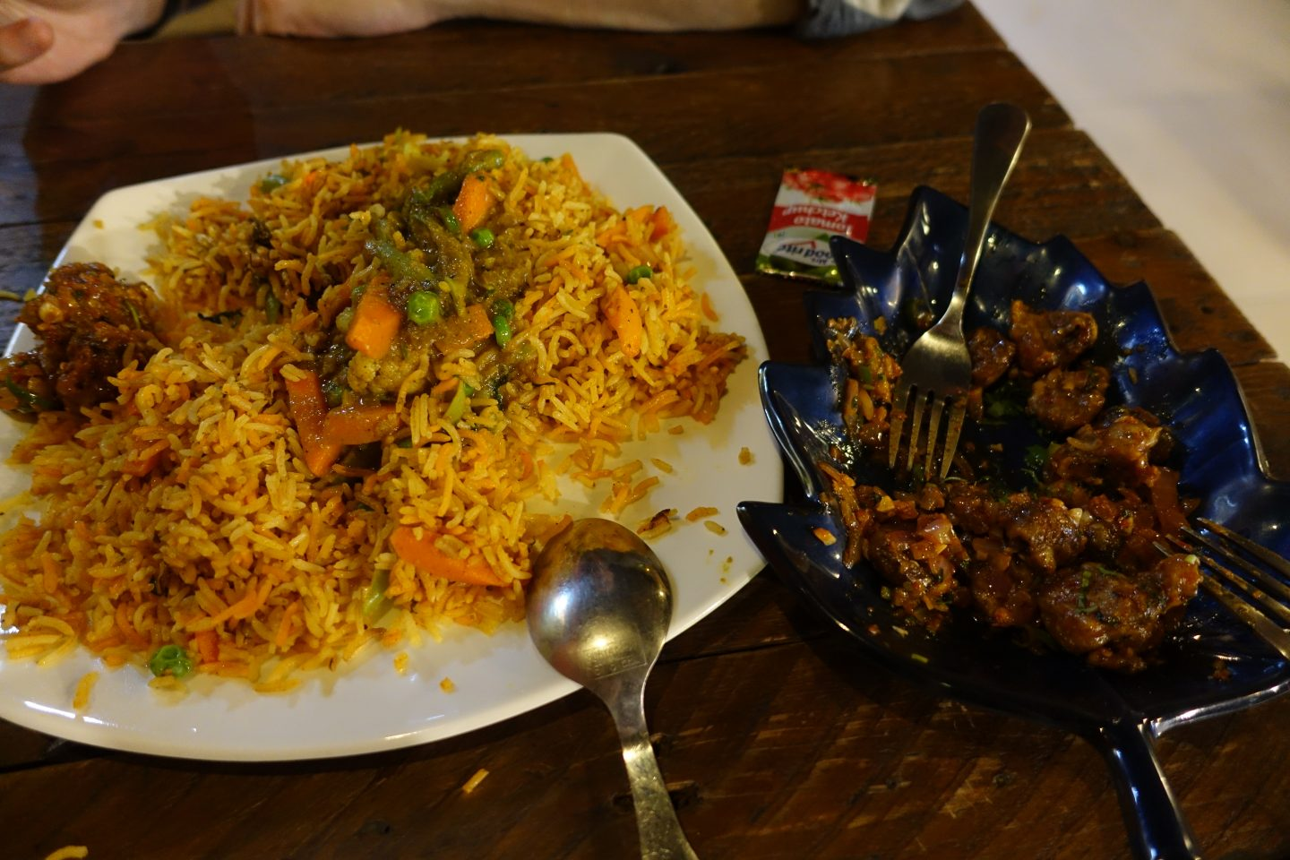 Vegetable Biryani at Cafe Noosphere Vegan Food Bangalore