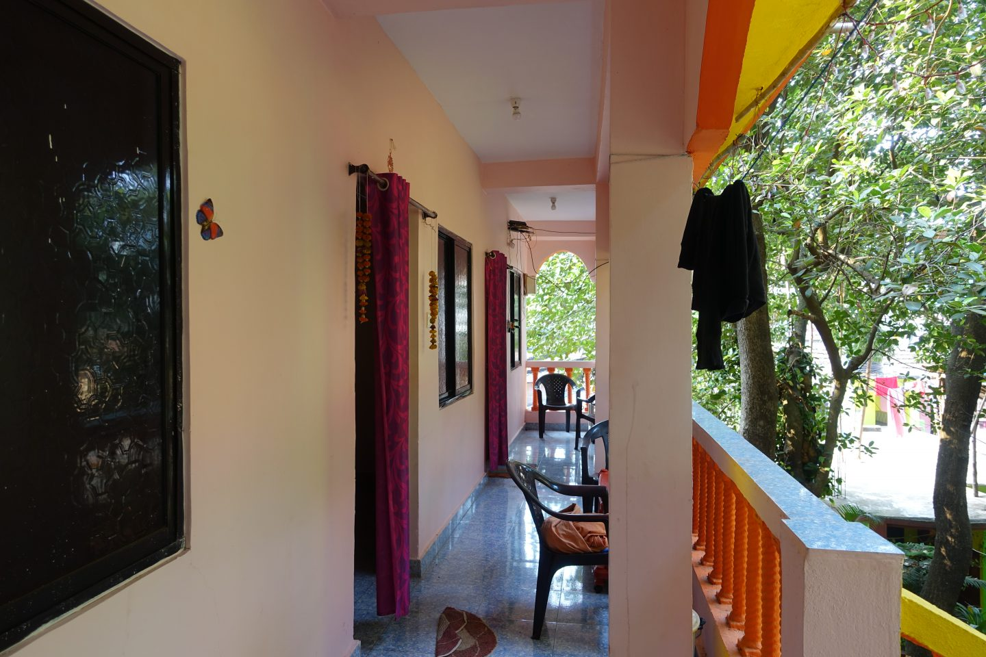yellow house guesthouse arambol, goa, india