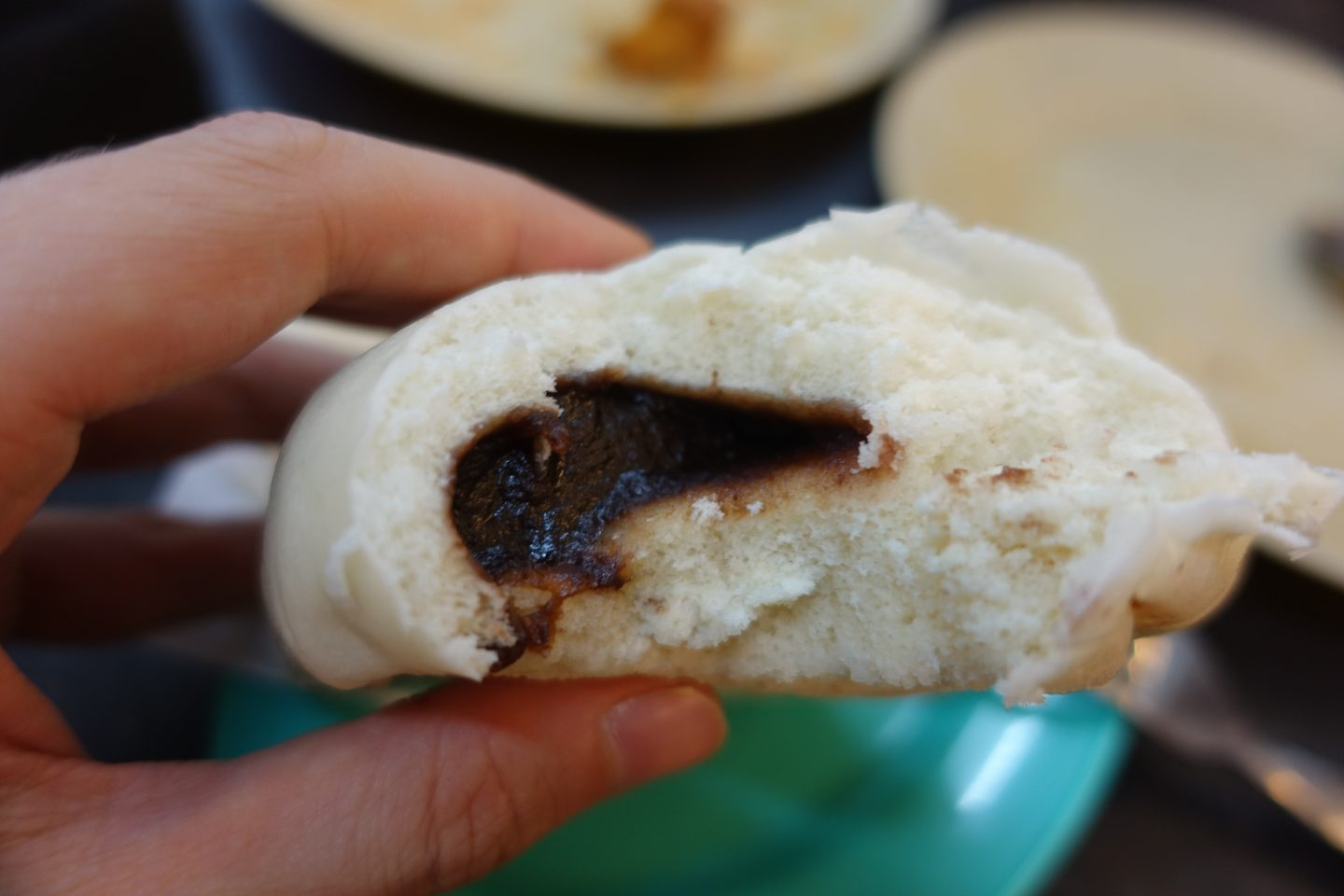red bean bao