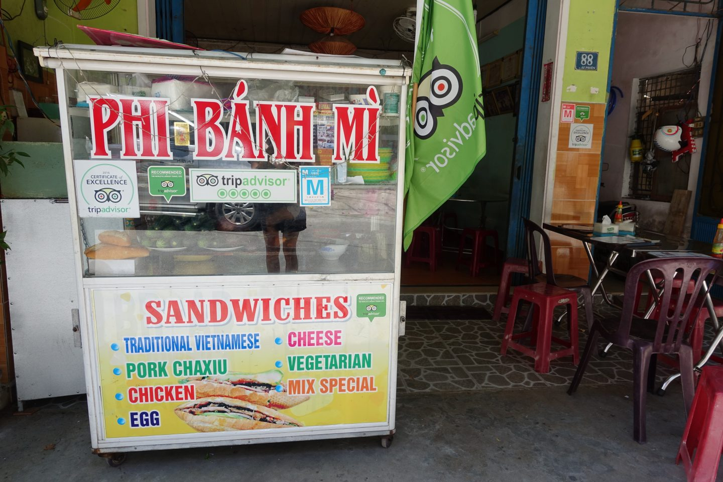 phi banh mi vegan banh mi outside