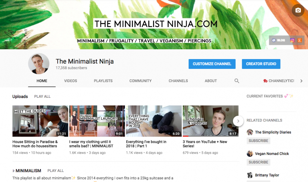 the minimalist ninja youtube