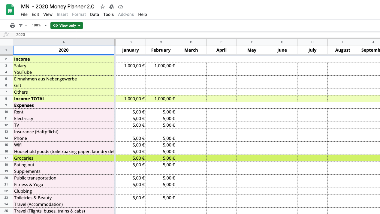 My Money Planner Update / How I track my expenses 2.0